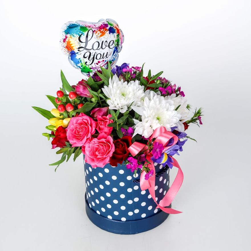 Kvetinový box Love you 2