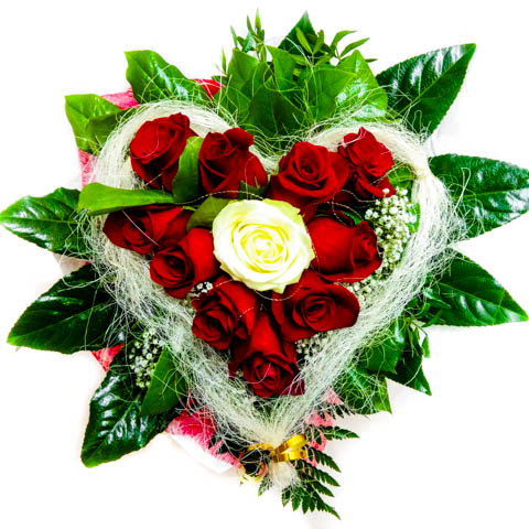 """Kytica """"Srdiečko z ruží"""""""