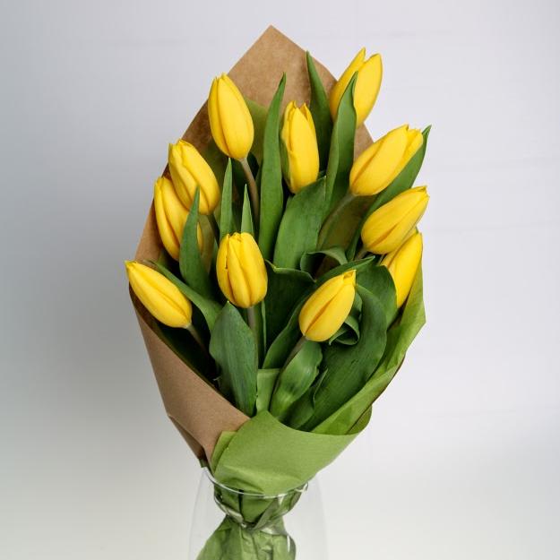 Kytica JEDENÁSTKA z tulipánov žltá
