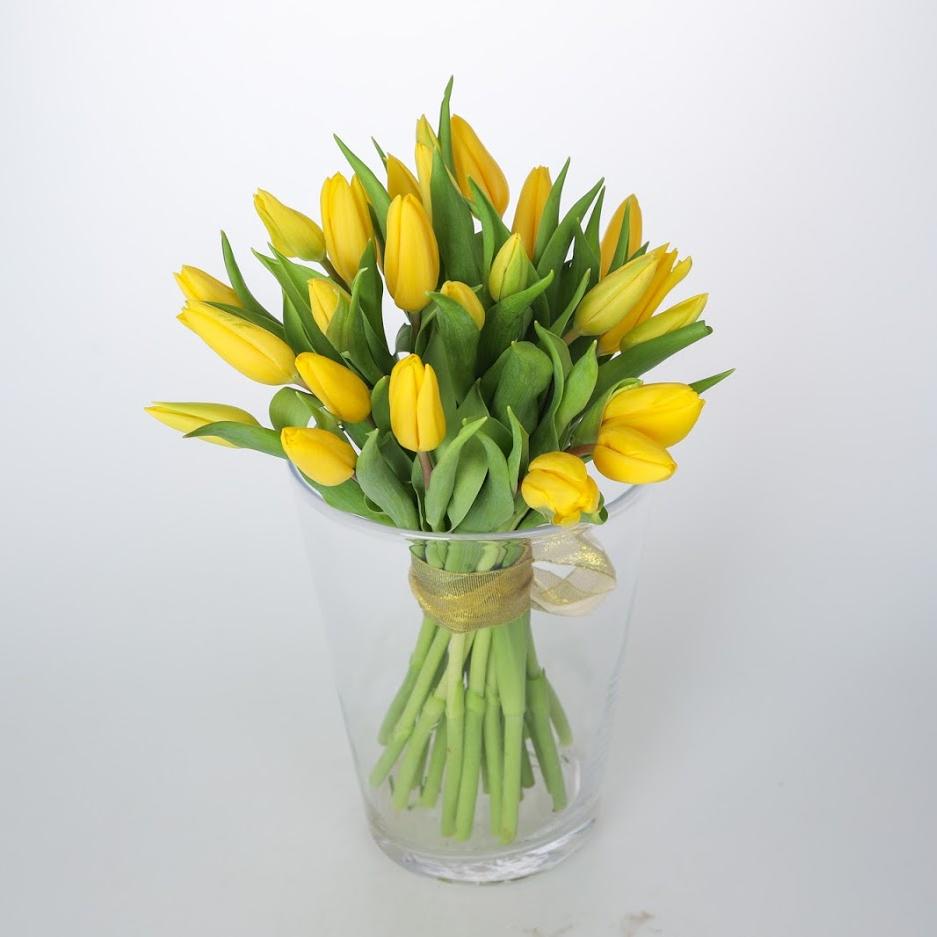 Kytica žltých tulipánov od 25 ks