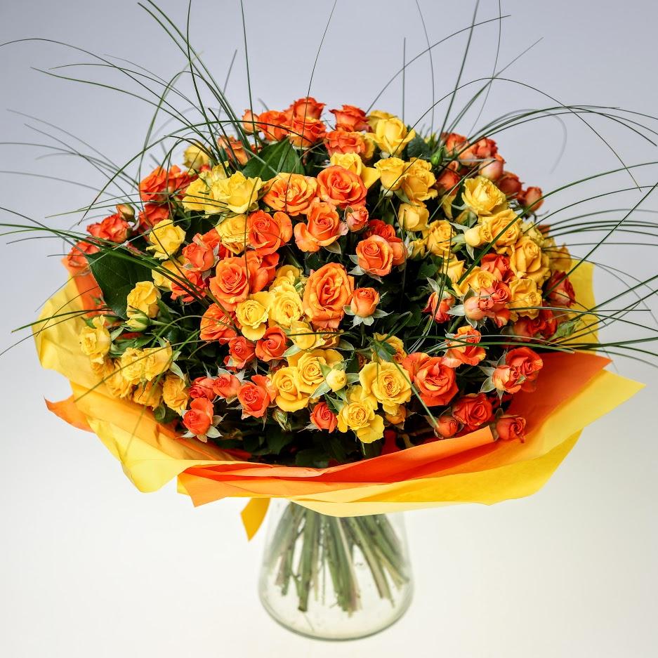 Kytica Večná láska oranžovo žltá