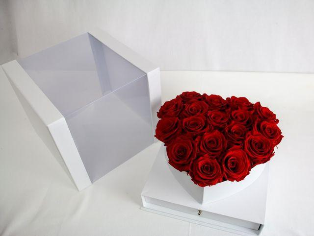 Box srdce stabilizované ruže