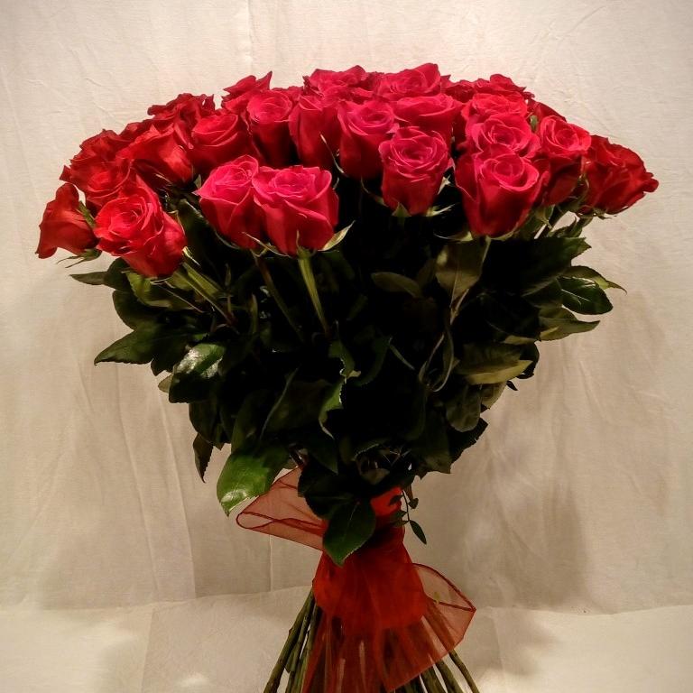 Kytica  červených ruží EXTRA 70 cm