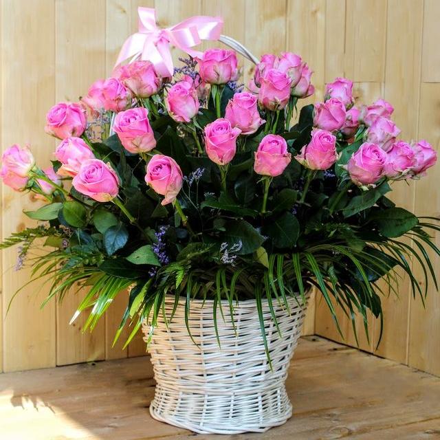 Kvetinový košík Milujem ťa