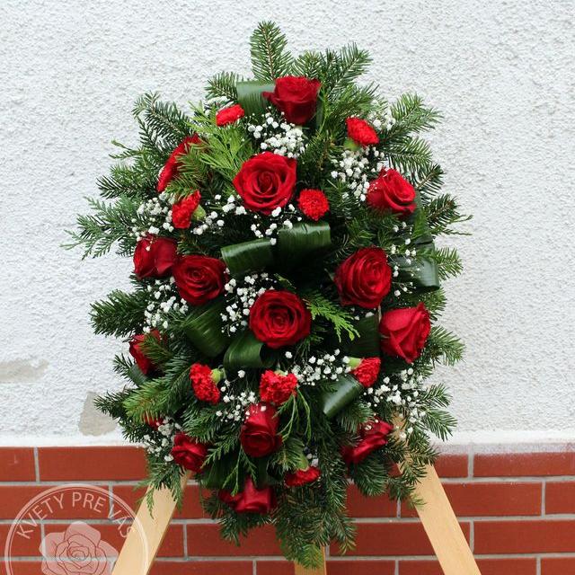 Ikebana červené ruže