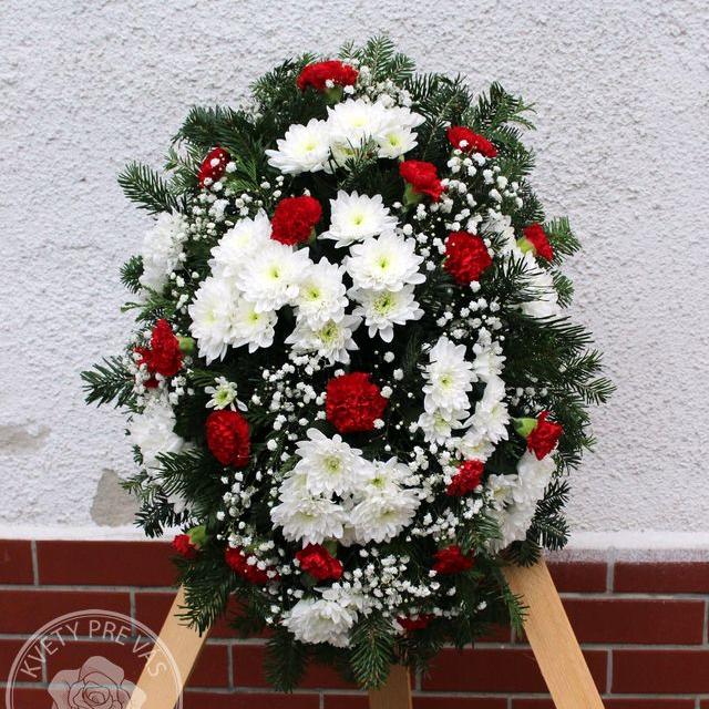 Ikebana / veniec červeno biely