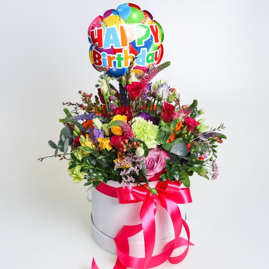 Lúka v boxe s balónom Happy Birthday