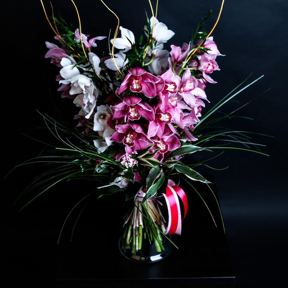 Kytica mix farieb orchideí