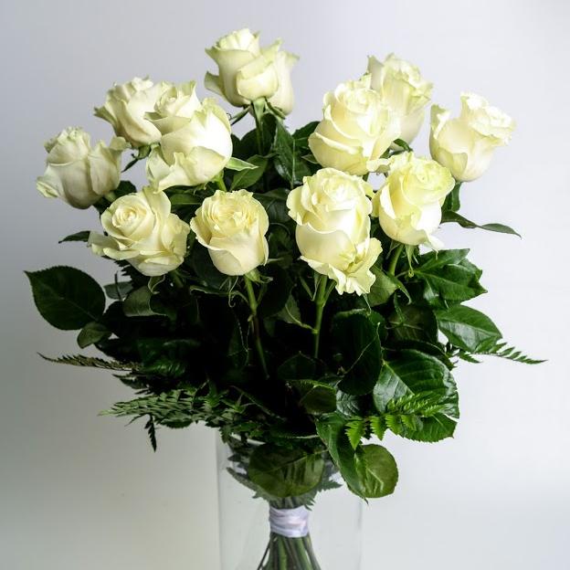 Kytica z ruží EXTRA biela