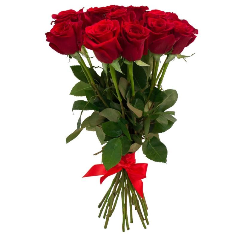 Kytica červených ruží s mašľou