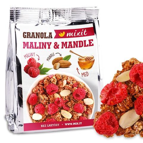 Granola z pece - Maliny a mandle do vačku 70 g