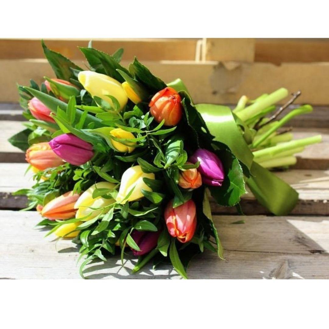 Kytica farebné tulipány od 17ks