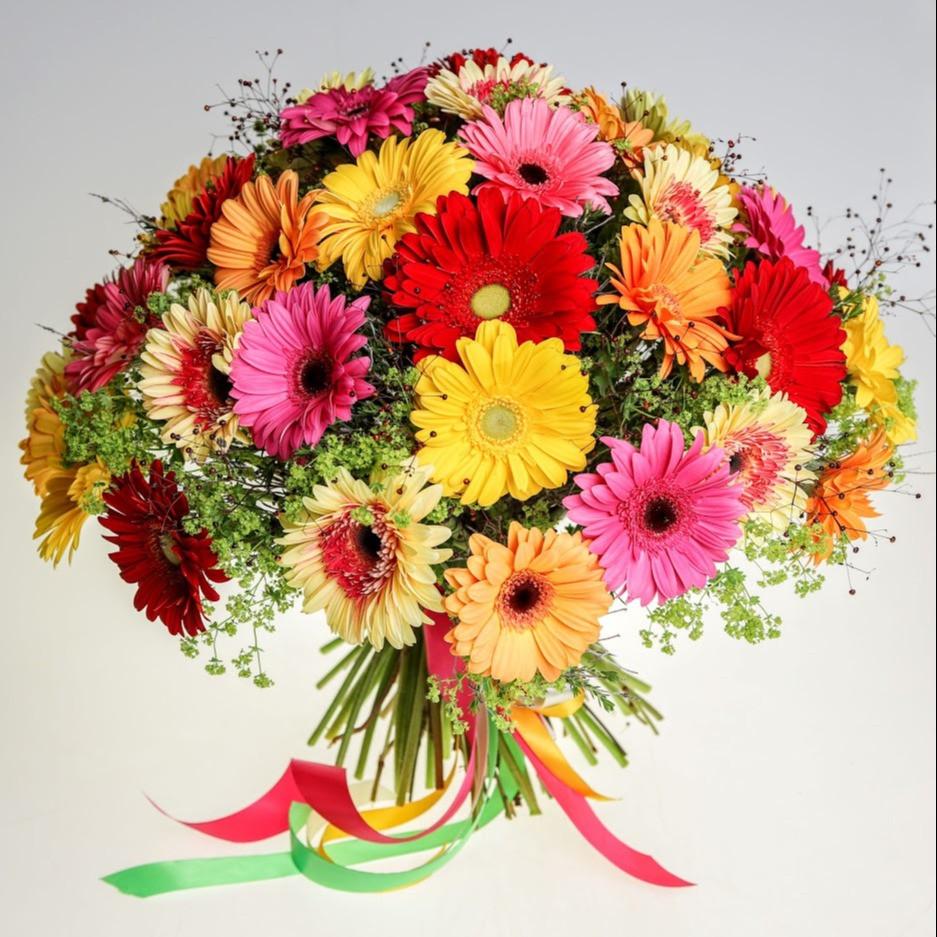 Luxusná kytica gerbier