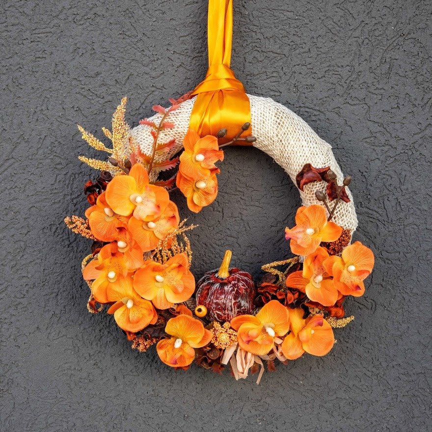 Jesenný veniec na dvere 2