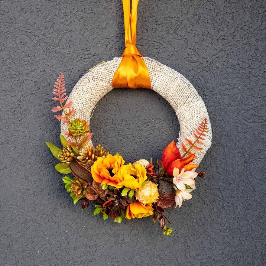 Jesenný veniec na dvere 1