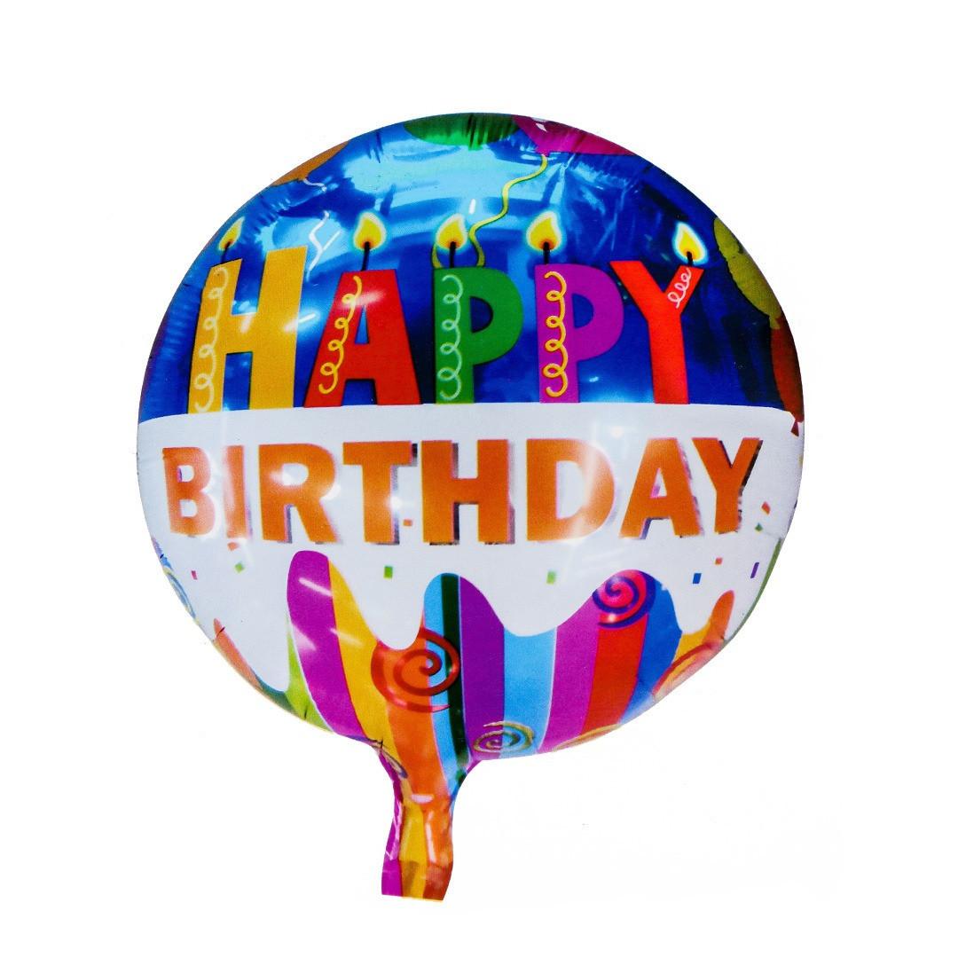 Balón Happy Birthday sviečky