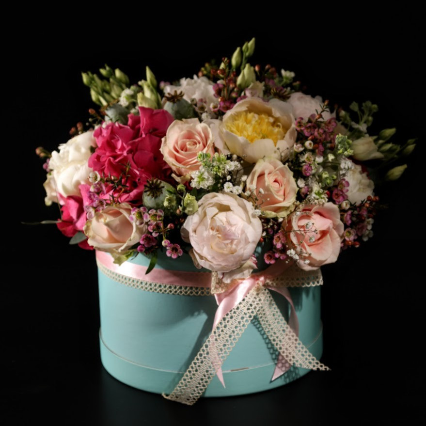 Flower box Ružová mentolka